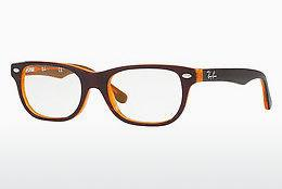Lunettes design Ray-Ban Junior RY1555 3674 - Brunes, Orange