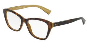 Dolce & Gabbana DG3249 2956 TOP HAVANA ON GOLD