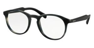 Prada PR 19SV USD1O1 MATTE STRIPED GREY