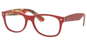 Ray-Ban RX5184 5406 TOP MATTE RED ON TEXT CAMUFLAG