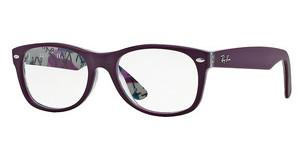 Ray-Ban RX5184 5408 TOP MAT VIOLET ON TEX CAMUFLAG