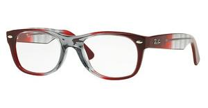 Ray-Ban RX5184 5517 GRADIENT GREY ON BORDO'