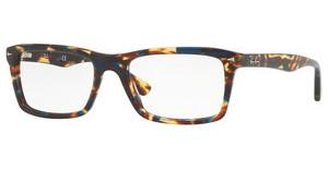 Ray-Ban RX5287 5711 SPOTTED BLUE/BROWN/YELLOW
