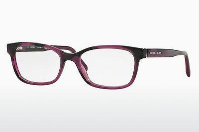 Lunettes design Burberry BE2201 3519 - Brunes, Havanna, Pourpre