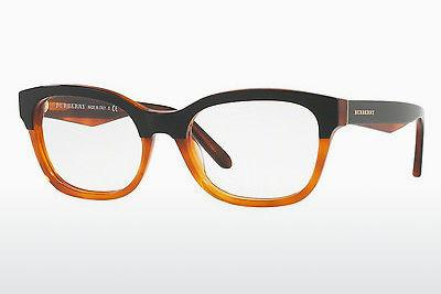 Lunettes design Burberry BE2257 3650 - Noires, Orange
