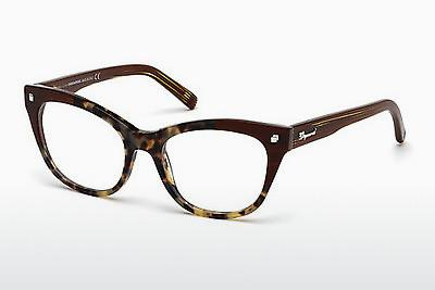Lunettes design Dsquared DQ5160 055 - Brunes, Havanna, Multicolores