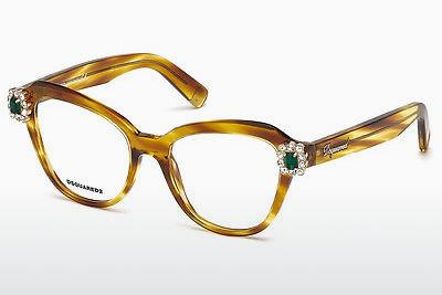 Lunettes design Dsquared DQ5212 047 - Brunes, Bright