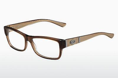 Lunettes design Gucci GG 3133 MH5 - Brunes, Blanches, Or