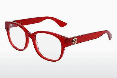 Lunettes design Gucci GG0040O 004 - Rouges
