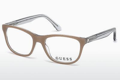 Lunettes design Guess GU2585 059 - Corne, Beige, Brown