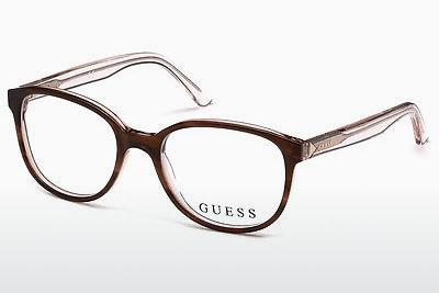 Lunettes design Guess GU2586 047 - Brunes, Bright