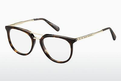 Lunettes design Marc Jacobs MJ 603 AQT - Or, Brunes, Havanna