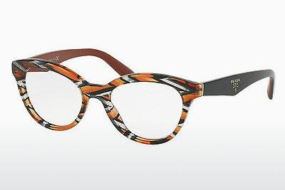 Lunettes design Prada TRIANGLE (PR 11RV VAN1O1) - Grises, Orange