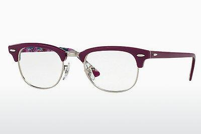 Lunettes design Ray-Ban CLUBMASTER (RX5154 5652) - Pourpre, Violet
