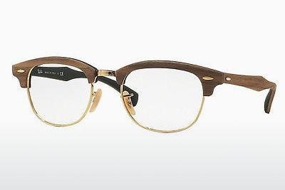 Lunettes design Ray-Ban CLUBMASTER (RX5154M 5561) - Brunes, Walnut