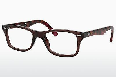 Lunettes design Ray-Ban RX5228 5628 - Brunes