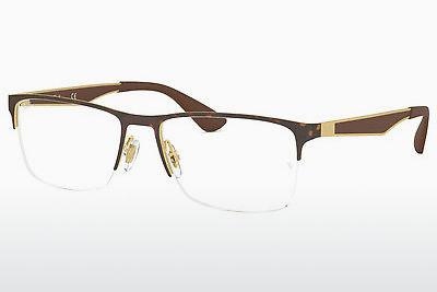 Lunettes design Ray-Ban RX6335 2917 - Or, Brunes, Havanna