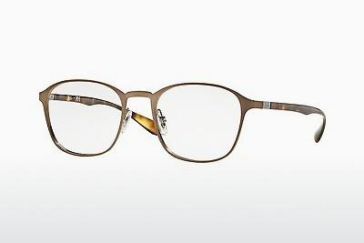 Lunettes design Ray-Ban RX6357 2877 - Brunes