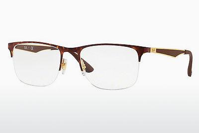 Lunettes design Ray-Ban RX6362 2917 - Or, Brunes, Havanna