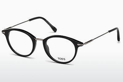 Lunettes design Tod's TO5169 001 - Noires, Shiny