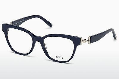 Lunettes design Tod's TO5172 090 - Bleues, Shiny