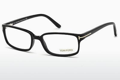 Lunettes design Tom Ford FT5209 001 - Noires, Shiny