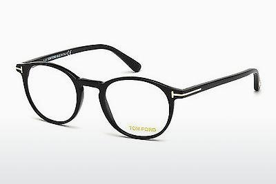 Lunettes design Tom Ford FT5294 001 - Noires, Shiny