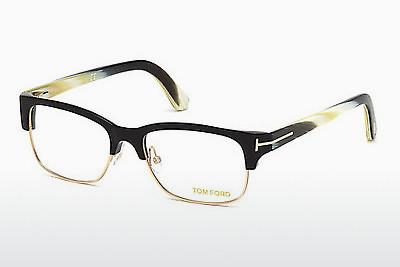 Lunettes design Tom Ford FT5307 001 - Noires, Shiny
