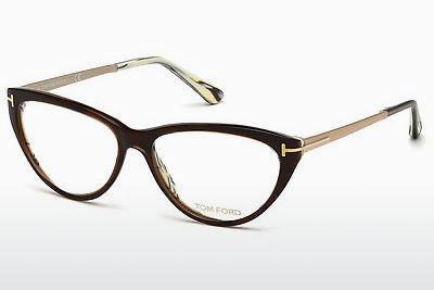 Lunettes design Tom Ford FT5354 050 - Brunes, Dark