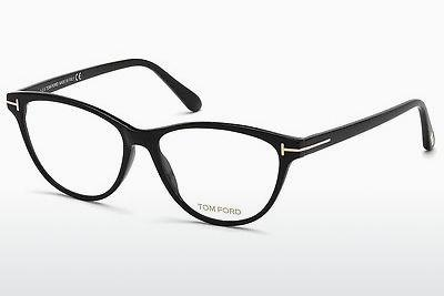 Lunettes design Tom Ford FT5402 001 - Noires, Shiny