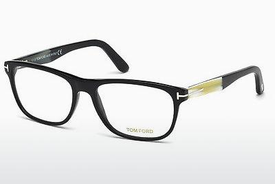 Lunettes design Tom Ford FT5430 001 - Noires, Shiny