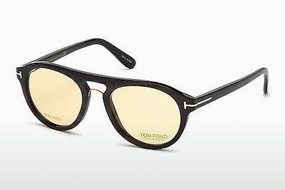 Lunettes design Tom Ford FT5438-P 64E - Corne, Horn, Brown