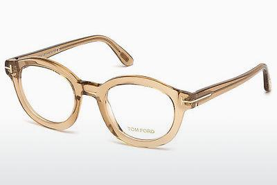 Lunettes design Tom Ford FT5460 045 - Brunes, Shiny