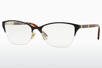 Lunettes design Versace VE1218 1344 - Brunes, Or