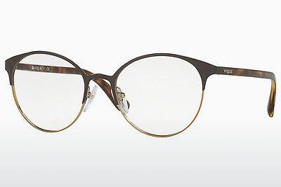 Lunettes design Vogue VO4011 997 - Brunes, Or