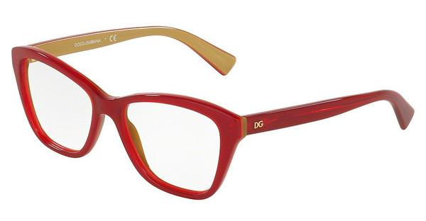 Dolce & Gabbana DG3249 2968 TOP RED ON GOLD