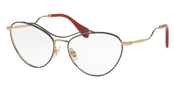 Miu Miu MU 53PV UE61O1 ANTIQUE GOLD/BLUE