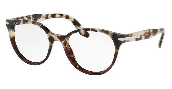 Prada PR 07TV U6P1O1 SPOTTED BROWN OP/SPOTTED RED