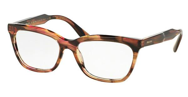 Prada PR 24SV UEO1O1 STRIPED BROWN