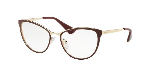 Prada PR 55TV UF61O1 BORDEAUX/PALE GOLD