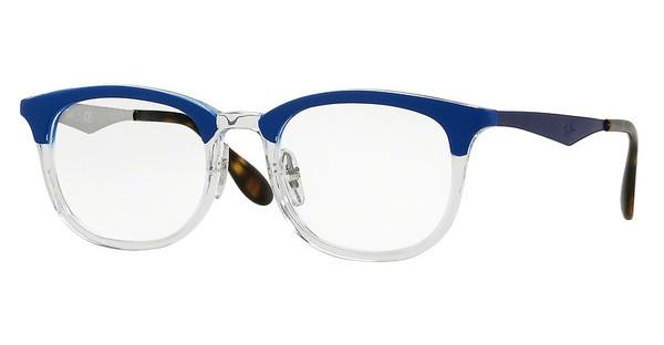 Ray-Ban RX7112 5684 TRASPARENT/SHINY BLUE