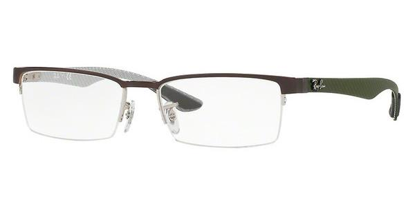 Ray-Ban RX8412 2892 SILVER TOP ON BROWN