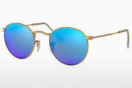 Lunettes de soleil Ray-Ban ROUND METAL (RB3447 112/4L) - Or