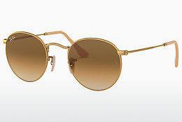 Lunettes de soleil Ray-Ban ROUND METAL (RB3447 112/51) - Or