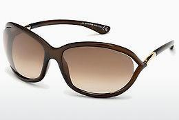 Lunettes de soleil Tom Ford Jennifer (FT0008 692) - Brunes, Dark, Shiny