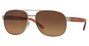 Burberry BE3083 11661P POLAR BROWN GRADIENT PINKBRUSHED SILVER