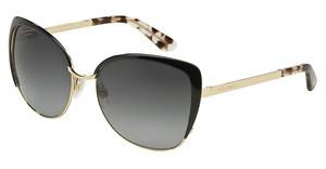 Dolce & Gabbana DG2143 488/T3 POLAR GREY GRADIENTPALE GOLD/BLACK