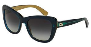Dolce & Gabbana DG4260 29588G GREY GRADIENTTOP PETROLEUM ON GOLD