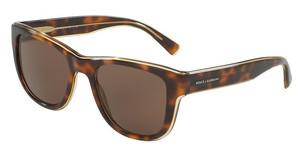 Dolce & Gabbana DG4284 304973 BROWNTOP HAVANA ON TRANSP YELLOW
