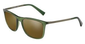 Dolce & Gabbana DG6106 3068Y8 BROWN MIRROR GOLD MATTETRANSPARENT GREEN